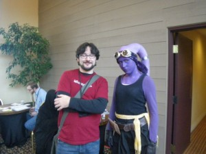 Randy and a Twi'lek